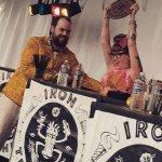 New Iron Tikitender Sierra Kirk is crowned by Blair Reynolds, owner of Hale Pele and B.G. Reynolds' Syrups