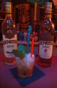 Merchant's Mai Tai featuring Denizen Merchant's Reserve and aged white rums. (Photo by Hurricane Hayward, July 2015)