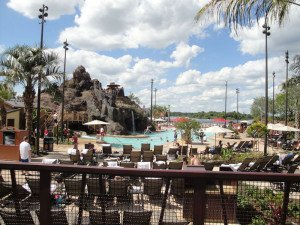 The refurbished pool at Disney's Polynesian Village Resort. (Photo by Hurricane Hayward, May 2015)
