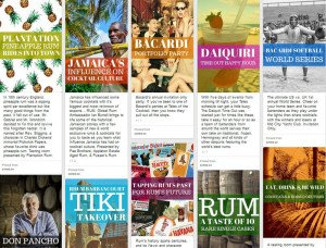 Some of the rum and Tiki events at Tales of the Cocktail, as posted on Pintrest.