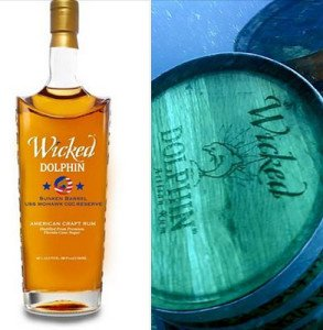 Wicked Dolphin's Sunken Barrel USS Mohawk CGC Reserve rum was created using a special aging process involving barrels sunk in the Gulf of Mexico. (Facebook photo)