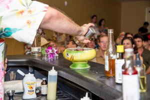 Bartender Anthony Schmidt won the first San Diego Bartenders' Battle at Tiki Oasis 15. (Tiki Oasis official photo)