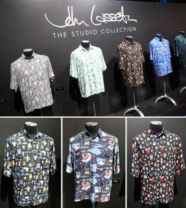 Pixar founder John Lasseter's private collection of movie-themed Hawaiian shirts was on display at D23. (Disney Parks Blog)