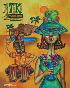 """Dig that Summer Groove"" by Christine Benjamin, featured on the cover of the summer issue of Tiki Magazine & More."