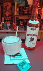 The Mai-Kai's Moonkist Coconut featuring Cockspur Fine Rum. (Photo by Hurricane Hayward, September 2015)