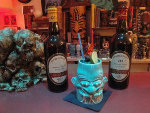 Guyanese Zombie featuring Hamilton 86 and 151 rum from Guyana. (Photo by Hurricane Hayward, October 2015)