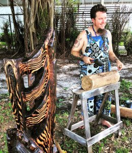 Live Tiki carving demonstration by DeTiki on Friday, Oct. 2. (Ohana by the Sea Facebook photo)