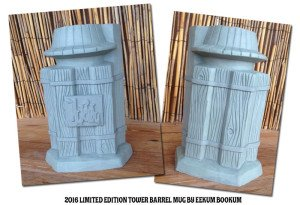 An early version of the limited-edition Pier 66 Tower Barrel Mug by Eekum Bookum. It includes two icons in one mug: Ther Pier 66 tower and The Mai-Kai's Rum Barrel