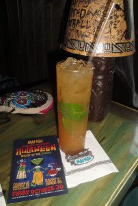 In addition to the classic recipe, the Appleton Zombie was featured during Hulaween 2015. (Atomic Grog photo)