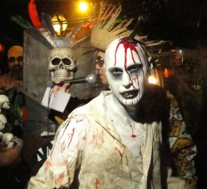 Mr. Zombie (With a Knife in His Head) finished third in the costume contest at Hulaween 2015. (Atomic Grog photo)