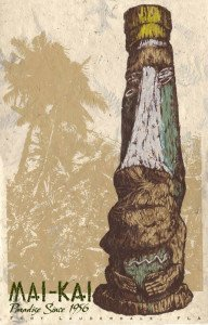 A new serigraph by artist Brian Potash pays tribute to a Tiki that has stood in front of The Mai-Kai for around half a century