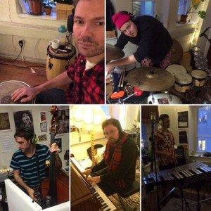 Ìxtahuele in the studio. (Facebook photos)