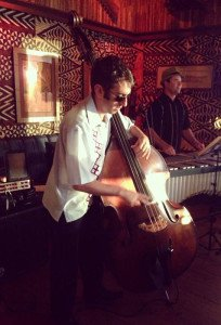 Pan Montuno Trio perform at Trader Vic's in Emeryville, Calif., in June 2014. The city could crack down on live music at the famous restaurant. (Facebook photo)