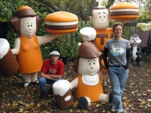 Jeff and Kelly Kunkle explore long-lost sites and attractions. (From Vintage Roadside's Facebook page)