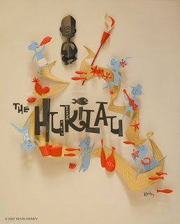 Paper sculpture for The Hukilau by artist Kevin Kidney.