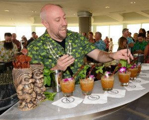 Martin Cate, owner of Smuggler's Cove in San Francisco, serves up signature cocktails at last year's Tiki Tower Takeover at Pier 66 in Fort Lauderdale. (Photo by Go11Events.com)
