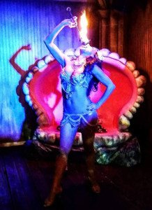 Marina the Fire Eating Mermaid at The Golden Tiki on Saturday Jan. 9. (Photo by Rick Miller)