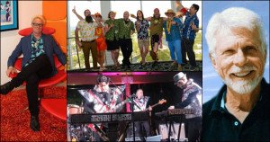 The Year in Tiki 2015, clockwise from left: Shag, the Tiki Tower Takeover at The Hukilau, the late Robert Drasnin, The Tikiyaki Orchestra at Tiki Oasis