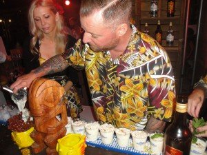Mikel Kortan and The Golden Tiki team crank out The Coco Moloko cocktail.
