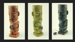 Tiki Diablo's new Mai-Kai mugs come in three glazes: Tobacco Brown, Lagoon Green, and Black Velvet.