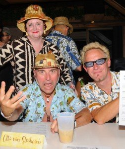 "Christie ""Tiki Kiliki"" White at The Hukilau 2010 with Otto von Stroheim and Shag. (Photo by Go11Events.com)"