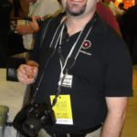 Paul E. Senft, a RumXP judge and RumJourney.com blogger from Atlanta, is hard at work on the festival floor.