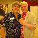 Miami Rum Renaissance Festival organizer Robert A. Burr (left) with longtime judge Bernhard Schäfer.