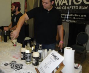 Avi Aisenberg (right) and Joe Durkin make their first appearance at the festival with their new Fwaygo Rum.
