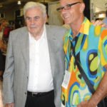 "South Florida rum connoisseur Mike Jones (right) meets famed Cuban blender Francisco ""Don Pancho"" Fernandez."