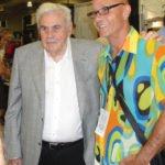 "South Florida rum connoisseur Mike Jones (right) meets famed Cuban blender Francisco ""Don Pancho"" Fernandez."