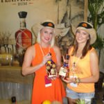 Plantation representatives show off some of the brand's award-winning rums from throughout the Caribbean.
