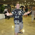 Festival organizer Robert V. Burr enthusiastically greets guests at the grand tasting.