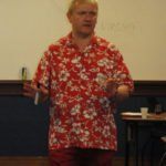 """RumXP judge Bernhard Schäfer from Germany gives tips on the """"Art and Technique of Evaluating Rum"""" during a seminar."""