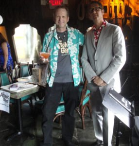Hurricane Hayward and Skinny Jimmy Stingray get ready for the night's festivities.
