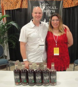 Many new rums won RumXP awards, including Santeria Rum from Bryan Davis and Joanne Haruta of Lost Spirits and Rational Spirits distillery. (Photo by Hurricane Hayward)