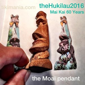 A prototype of The Hukilau's official pendant by Crazy Al Evans, a tribute to a giant moai carving at The Mai-Kai.
