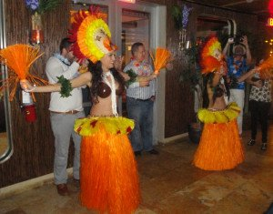 Polynesian dancers perform at the grand opening of the Naked Tiki restaurant and bar at the Stiles Hotel on South Beach on Feb. 20. (Photo by Hurricane Hayward)