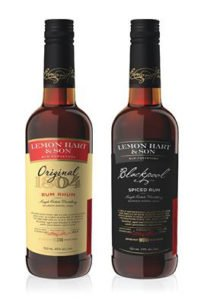 Lemon Hart's 80-proof Original 1804 and 86-proof Blackpool Spiced rums.