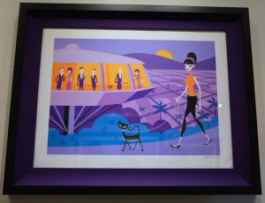 A framed Shag print at the Feb. 20 party at Shag the Store in Palm Springs. (Photo by Kari Hendler from Poly Hai)