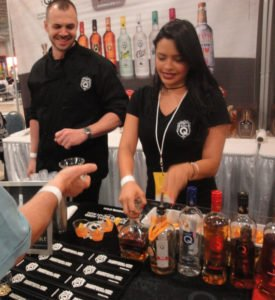 Don Q reps serve up rum and cocktail samples at Miami Rum Festival on Sunday, April 17. (Photo by Hurricane Hayward)