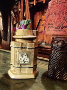 The limited-edition Tower Barrel Mug was produced exclusively for South Seas passholders at The Hukilau 2016.