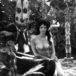 The inspiration for The Hukilau's 2016 mug: A vintage Tiki in The Mai-Kai's garden.