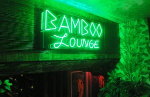 The Bamboo Lounge was one of several themed areas of the defunct Naked Tiki in the Stiles Hotel on South Beach. Was the concept too big for its own good? (Photo by Hurricane Hayward)