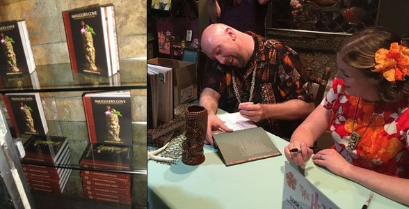 Martin Cate and Rebecca Cate sign copies of their new book in The Mai-Kai gift shop. (Photos by Hurricane Hayward and Susan Hayward / The Atomic Grog)
