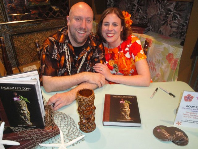 Martin Cate and Rebecca Cate kick off their book tour at The Mai-Kai. (Photo by Hurricane Hayward / The Atomic Grog)