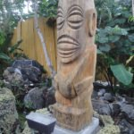 The Tangaroa-style Tiki carved by Fort Lauderdale's Tom Fowner is based on the design of The Mai-Kai's vintage decanter.