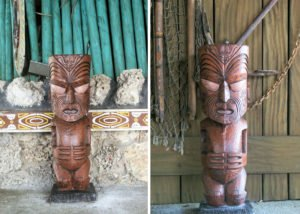 The latest gift to The Mai-Kai from Will Anders is the return of two Tiki ash trays, which he cast in concrete from a historic mold.