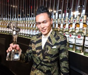 Representing the U.S., Gn Chan took the Bacardi Legacy Global Cocktail Competition trophy home to New York City. (Facebook photo)