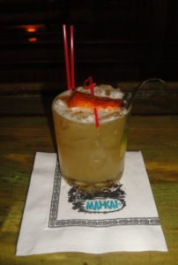 The Spicy Hula Girl was a special cocktail served during The Hukilau in June 2016 featuring sponsor Rhum Barbancourt. (Photo by Hurricane Hayward / The Atomic Grog)