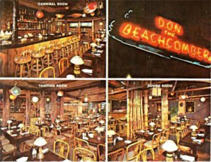 A vintage postcard from Don the Beachcomber in Chicago. (Posted on Tiki Central by Dustycajun)
